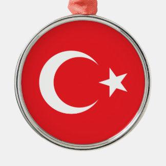 Turkish Flag Metal Ornament