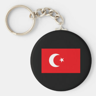 Turkish Flag T-shirts and Gifts Basic Round Button Keychain