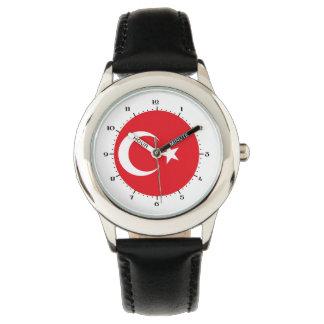 Turkish flag wrist watch