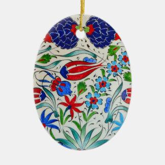 Turkish floral design ceramic ornament