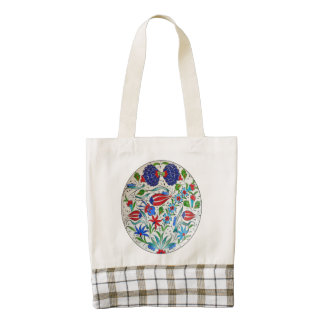 Turkish floral design zazzle HEART tote bag