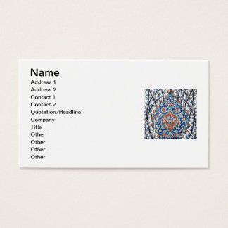 Turkish floral tiles business card