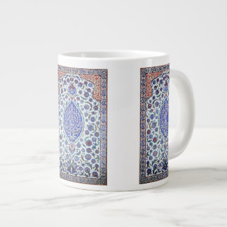 Turkish floral tiles large coffee mug