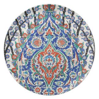 Turkish floral tiles melamine plate