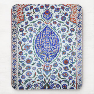 Turkish floral tiles mouse pad