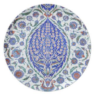 Turkish floral tiles plate
