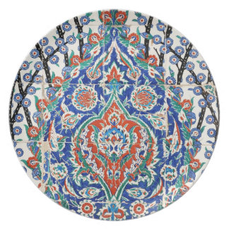 Turkish floral tiles plates