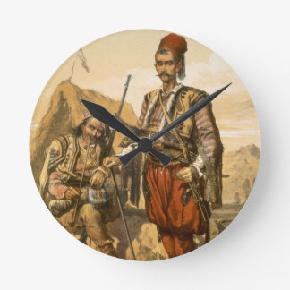 Turkish foot soldiers in the Ottoman army, pub. by Round Wallclock