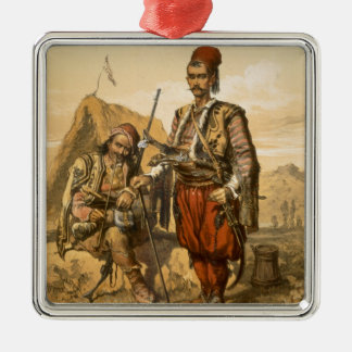 Turkish foot soldiers in the Ottoman army, pub. by Metal Ornament
