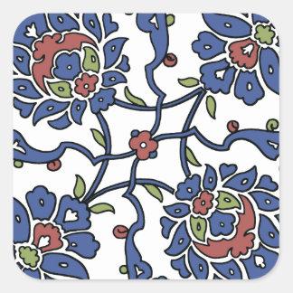 Turkish garden flower composition 1 square sticker