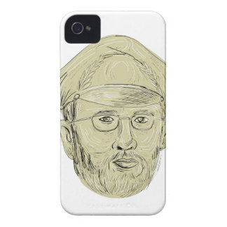 Turkish General Head Drawing iPhone 4 Case-Mate Case
