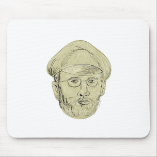 Turkish General Head Drawing Mouse Pad