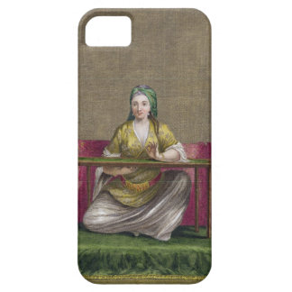 Turkish Girl, embroidering, 18th century (engravin iPhone SE/5/5s Case