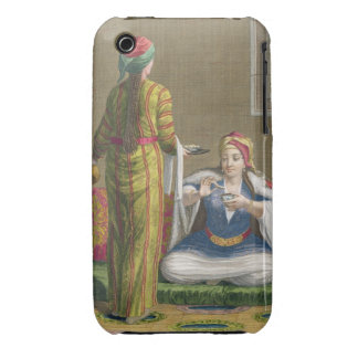 Turkish Girl, having coffee on the sofa, 18th cent iPhone 3 Covers