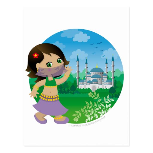 Turkish girl post cards