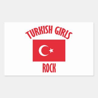 Turkish girls DESIGNS Rectangular Sticker