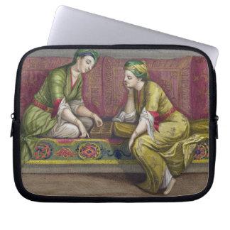 Turkish Girls, playing Mangala, 18th century (engr Laptop Computer Sleeves