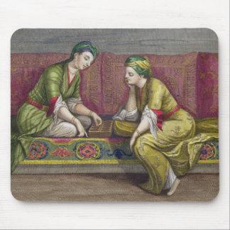Turkish Girls, playing Mangala, 18th century (engr Mouse Pad