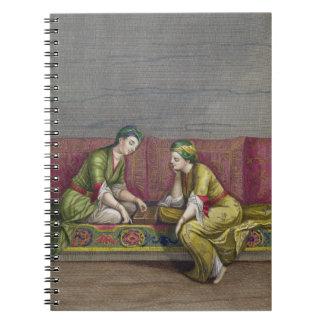 Turkish Girls, playing Mangala, 18th century (engr Notebook