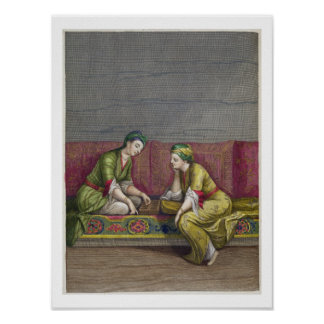 Turkish Girls, playing Mangala, 18th century (engr Posters