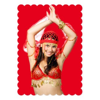 Turkish Gypsy Dancing in Bright Red Costume Card