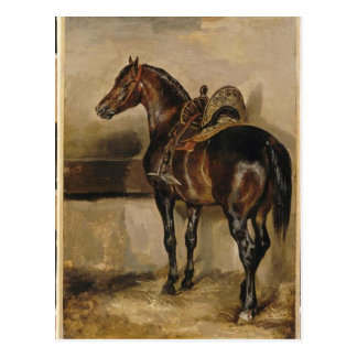 Turkish horse in a stable by Theodore Gericault Postcard