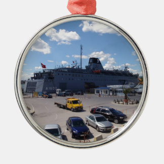 Turkish Hospital Ship Metal Ornament