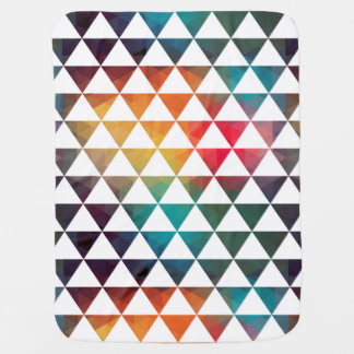 Turkish Inspired Colorful Geometric Pattern Baby Blanket