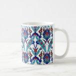 Turkish Iznik Floral Pattern Classic White Coffee Mug