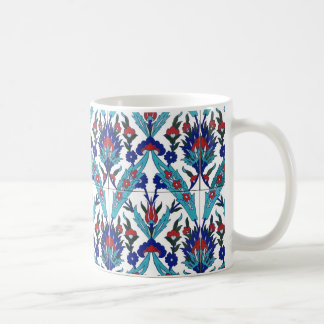 Turkish Iznik Floral Pattern Coffee Mug