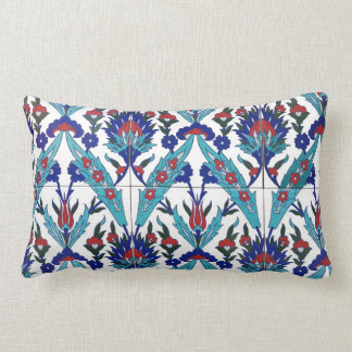 Turkish Iznik Floral Pattern Throw Pillow