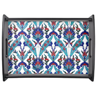 Turkish Iznik Floral Pattern Serving Tray