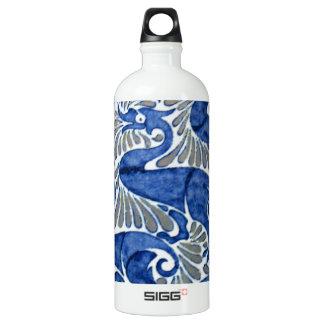 Turkish Iznik Ottoman Floral Design Pattern Aluminum Water Bottle