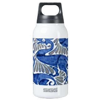 Turkish Iznik Ottoman Floral Design Pattern Insulated Water Bottle