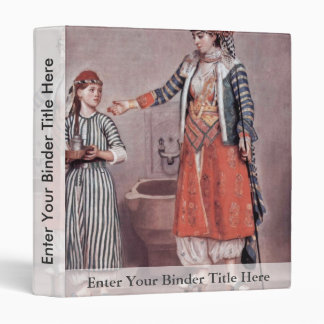 Turkish Lady With Maid By Liotard Jean-ÉTienne (B 3 Ring Binders
