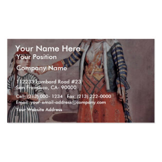 Turkish Lady With Maid By Liotard Jean-ÉTienne (B Business Cards