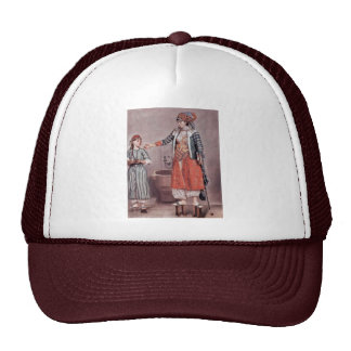 Turkish Lady With Maid By Liotard Jean-ÉTienne (B Trucker Hat