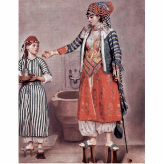Turkish Lady With Maid By Liotard Jean-ÉTienne (B Cut Outs