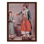 Turkish Lady With Maid By Liotard Jean-ÉTienne (B Post Cards