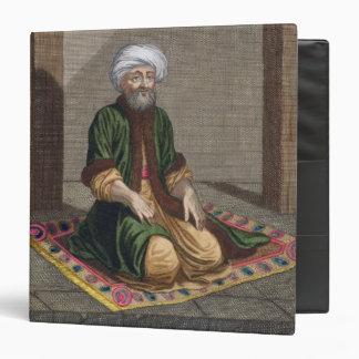 Turkish Man, praying, 18th century (engraving) 3 Ring Binders
