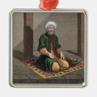 Turkish Man, praying, 18th century (engraving) Metal Ornament