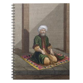 Turkish Man, praying, 18th century (engraving) Notebook