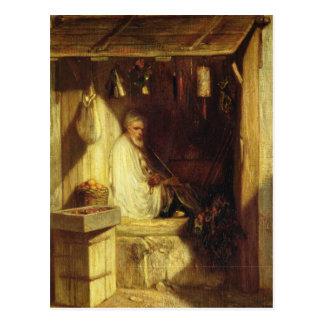 Turkish Merchant Smoking in his Shop, 1844 Postcard