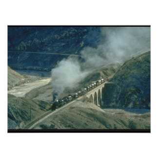 Turkish Middle East 2-8-0's head_Steam Trains Poster
