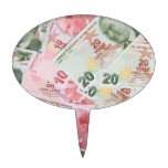 Turkish Money Background Cake Toppers