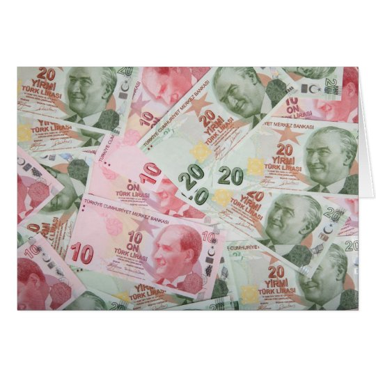 Turkish Money Background Card