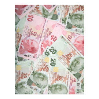 Turkish Money Background Personalized Flyer