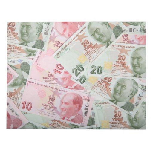 Turkish Money Background Notepad