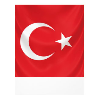 turkish national flag flyer template