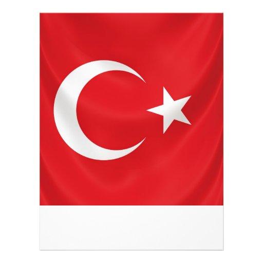 Turkish National Flag Flyer Template Zazzle